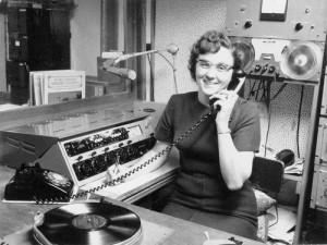 Margaret Drake in the WLJC radio station