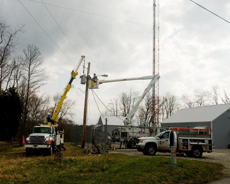 Preliminary electronical work underway for WLJC TV expansion project March 13, 2012